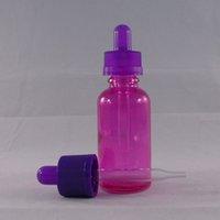 best glass bottle - 2016 Best Selling Childproof Caps Store Most Liquid Vapor E Juice Bottle Pink Glass Dropper Dottle ml Empty Bottle
