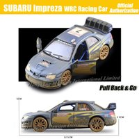 antique race car - 1 Scale Antique Finishing Alloy Diecast Metal Car Model For SUBARU Impreza WRC Racing Car Collection Model Pull Back Toys Car