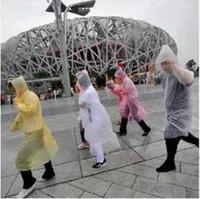 Wholesale cheap One time Raincoat Fashion Hot Disposable PE Raincoats Poncho Rainwear Travel Rain Coat Rain Wear Travel Rain Coat