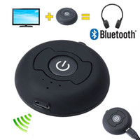 Wholesale 3 mm Bluetooth Transmitter Multi point Wireless Blutooth V4 Audio A2DP Stereo Dongle Adapter for TV PC Tablet MP3