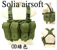 Wholesale tactical airsoft vest large capacity magazine AK Rig carrier combat vest Green