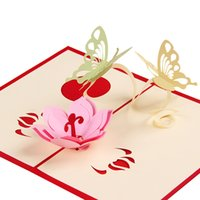 Wholesale Children handmade card d greeting card Creative paper carving process card