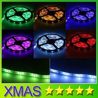 Wholesale Waterproof IP65 LED Strip SMD Flexible led light leds M M single color Red Yellow Blue Green Warm White White Cold White