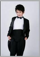 Wholesale Kid New Style Junior Boy Wedding Suit Boys Attire Custom made Boy s Formal Wear Suits Kid Tuxedos Children Blazer Jacket Pants Tie
