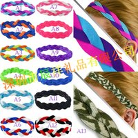 american place setting - Baseball softball sports headbands set elastic nylon headbands for girls braided mini non slip hairbands stay in place keep your focused