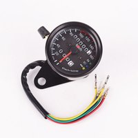 Wholesale Motorcycle Odometer Speedometer Dual Odometer Gauge LED Backlight Signal Light Digital Speedometer order lt no track