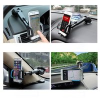Cheap Retractable Rotating 360 Degree Universal Car Phone Holder Windshield Mount Bracket for iPhone GPS Cell Mobile Phone Holder free shiping