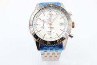 arab business - Chronometer Certified Quartz Men s Watch Milky Face Platinum Skeleton Full Stainless Steel Belt Arab Number Bezel Male Watch Relogio