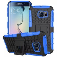 ballistic armor - For Samsung Galaxy S6 Edge Case Ballistic ARMOR Wave Hybrid Durable Dual Soft Silicone Hard PC Stand Back Case ShockProof Covers for S6 Edge