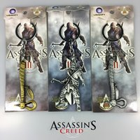 Wholesale assassins creed game charactor weapon axe keychain Pendant with box