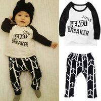 Wholesale 2016 Toddler Baby Boys Cute Long sleeve Tops T shirt Pants Set Clothing Outfits Y