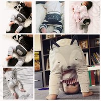Wholesale 3 color LJJK212 Hot Baby Kids INS Casual Harem Pants Toddler Loose Trousers pp pants Cats Animal With Ears Summer Trousers