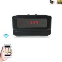 Wholesale WIFI IP Cam Hidden Spy Camera Clock MINI DV DVR IOS Android With Motion Detection Function Digital Video Camera