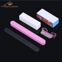 Wholesale 5Pcs Professional Manicure Tools Kit Rectangular Nail Files Brush Nail Art Accessories styling tools