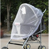 baby mosquito net tent - 100pcs luxury white pram mosquito net lace trolley universal babies mosquito net tents with belt protection
