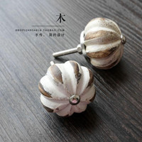 american wood kitchen cabinet - Primary wood pumpkin shaped single hole cabinet door of living room kitchen cabinet handle garden Home Furnishing American furniture
