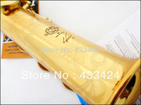 Wholesale French Selmer High pitch Bb Split Soprano Saxophone B Flat Saxe Top Musical Instrument sax boquilha Saxofone