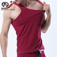 Wholesale Sports Vest Men Tank Tops WJ Fashion Summer Style Gym Sleeveless Undershirts Casual Male Bodybuilding Tank Top