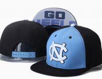 ncaa hats - 2015 Men s NCAA Sports Team North Carolinna Tar Heels Snapback Hat Blue Black Color Blocking Embroidered NC Adjustable Cap