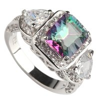 best china patterns - Copper Rhodium Plated Romantic Rings Rainbow Fire Mystic Cubic Zirconia Favourite MN3318 sz Noble Generous Best Sellers New pattern