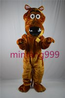 Wholesale Scooby doo dog brown mascot costume high quality fancy dress adult size party Halloween Manufacturer of custom