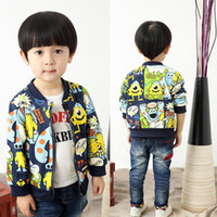 Wholesale 2 Y baby boy monster baseball jacket children kids long sleeve a navy blazer spring coat outfit outwear