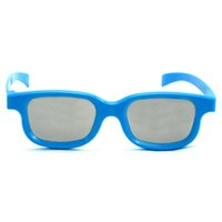 Wholesale popular design blue color passive circular polarized d glasses for cinema