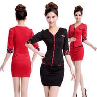 beauty salon service - Black Skirt Suits Beauty Hospital Salon Service Uniform Hotal Women Work Wear For Front Desk
