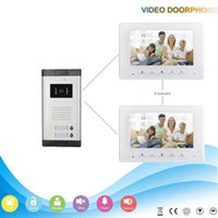 apartment cmos - Multi apartment wired inch TFT LCD screen intercom system CMOS camera video door phone