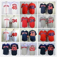 Wholesale MQ2B Complete Logo name Stitched BOGGS ORTIZ SANDOVAL BETTS National League Cool Baseball Jersey Red Sox Jerseys Sport