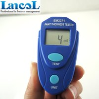 auto paint thickness gauge - Mini Car paint thickness tester measurement Digital LCD Coating thickness gauge Car Auto painting tester meter EM2271