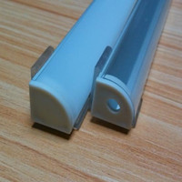 aluminium profile - 10pcs m x M QCDH1616A M LED Aluminium Profile with diffuser track channel for led strips bar light
