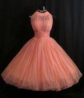 al por mayor bridesmaid dress in china-vestidos de China 2016 Short Vintage Coral dama de honor Uk plisado de tul vestido de los vestidos de dama de honor para las muchachas vestidos de dama de honor