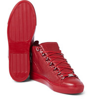 arena sizes - balen new arrived mens brand genuine leather popular leisure shoes arena high top man shoes size