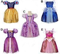 Wholesale Stage Dresses Sale - 2016 Hot Sale Elsa Anna Carton Costumes Clothing Kids Stage Cosplay Halloween Christmas Party Dresses High Quality Free Shipping MC0266