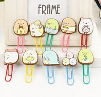 Wholesale Cute Summiko Gurashi Paper Clip Bookmark Promotional Gift Stationery School Office Supply H1092