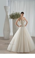 Cheap Ball Gown Bridal Gown Strapless With Sweetheart Neckline Beading Soft Tulle Classic 584 Demetrios 2016 Wedding Dresses 403