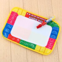 Wholesale 2016 New X19cm Children Water Drawing Painting Writing Mat Board Magic Pen Doodle Toy Christmas Gift Whale Intelligence toy