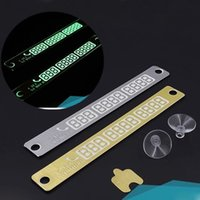 Wholesale 15 cm Noctilucence Temporary Car Parking Card Notification phone Number Night Light Sucker Plate Car Styling