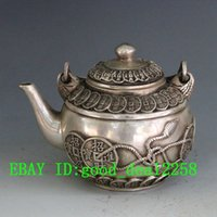 antique brass teapot - Chinese Brass Hand Carved Coins Teapot w Qing Dynasty