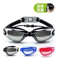 Wholesale Swimming glasses You swim HD waterproof Unisex goggles with earplugs new electroplating swimming swimming goggles
