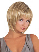 Wholesale New blonde Straight Wigs Short Hair Wigs Women s Fashion Wig wigs cap