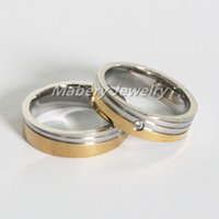 Wholesale Couple rings for love wedding CZ jewelry fashion his and hers promise gold ring single sale lover rings