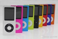 Wholesale HOT Color New Slim GB LCD th Gen Mp4 FM Radio Video Player Music playing time hours Free Gift