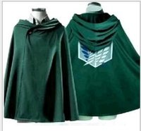 TV & Movie Costumes attack on titan costume - Anime Cosplay Fashion Shingeki No Kyojin Cloak Cape Adult Coat Clothes Halloween Cosplay Costume Anime Attack On Titan Party Supply for Boys