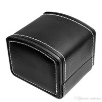 Wholesale Luxury PU leather Watch box storage boxes black display box clamshell boxes for men women wrist watch