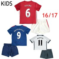 army children - 2016 KIDS Soccer Jersey Zlantan Ibrahimovic Jersey Boys Paul Pogba Mkhitaryan Children Football Shirt Martial Rooney Camiseta