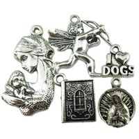 bible dogs - 5PCS MIX I Love Dog Goddness Holy Bible Book Mother Baby Cupid s Arrow Pendant