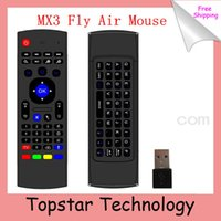 Wholesale 2014 MX3 Keyboard G Remote Control Fly Air Mouse Wireless Keyboard Mini Keyboard MX3 Axis for XBMC Android Mini PC TV Box