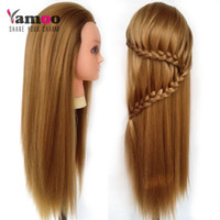 Wholesale Professional cm Blonde hairdressing dolls head Female Mannequin Hairdressing Styling Training Head high quality Mannequin Head